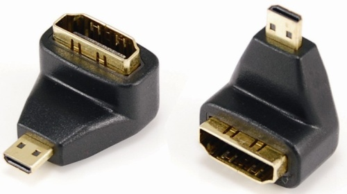 Micro HDMI male to HDMI female adaptor,90° angle type