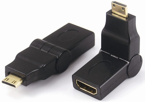 Mini HDMI male to HDMI female adaptor,rotating 360°