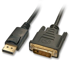 DP Male to DVI Male Cable