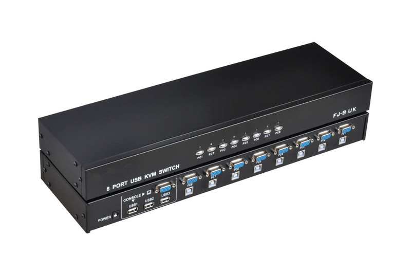 8 Port USB KVM Switch