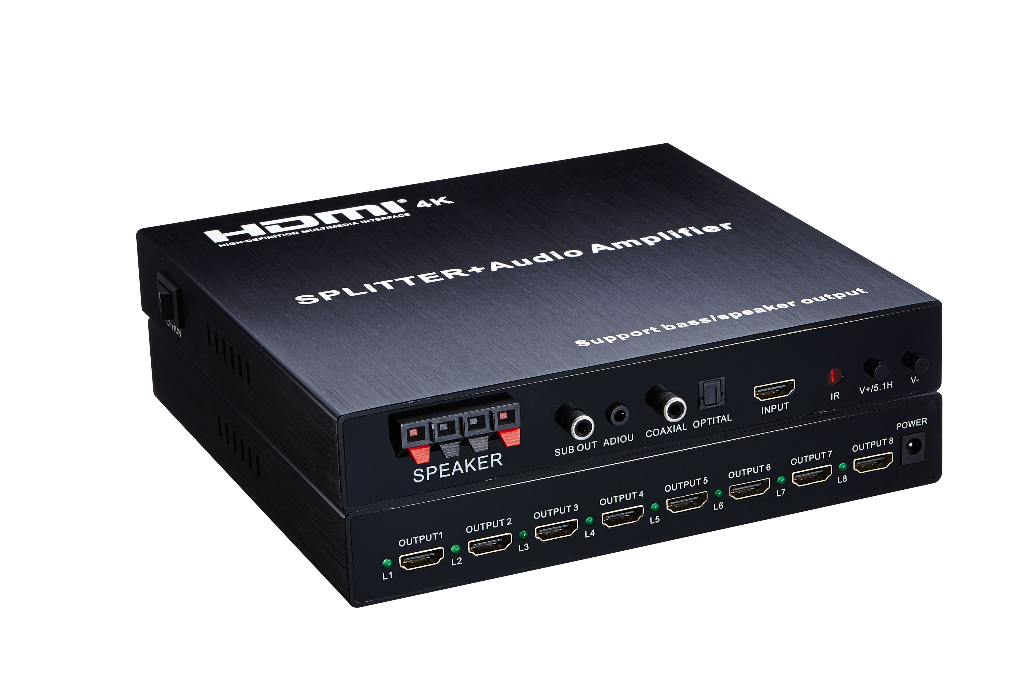 4K HDMI Splitter 1X8 with Amplifier